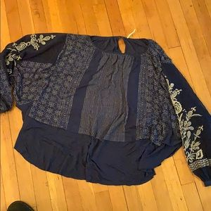 Free people blue blouse
